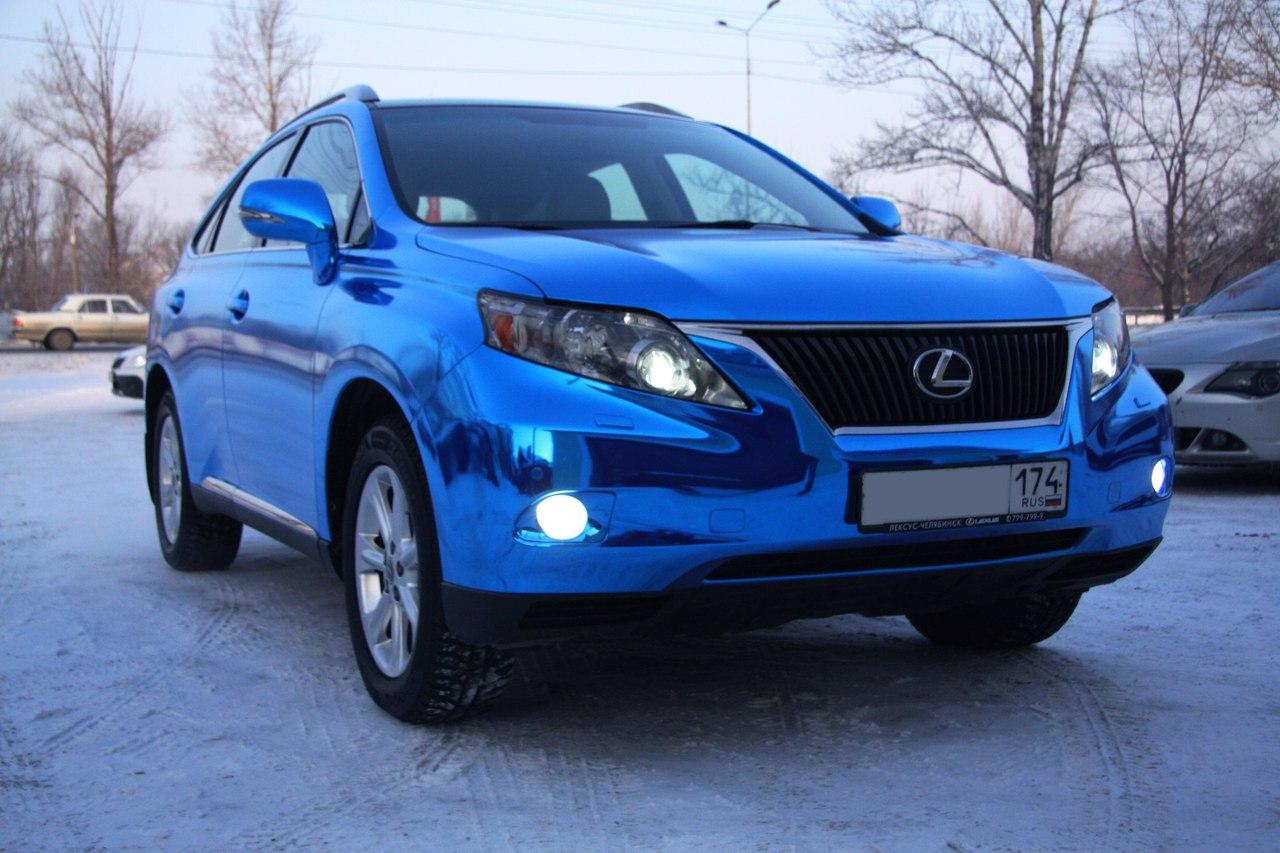 Оклейка синим хромом Lexus RX