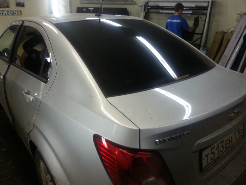 Chevrolet Aveo — тонировка стекол авто — 18 сентября 2013