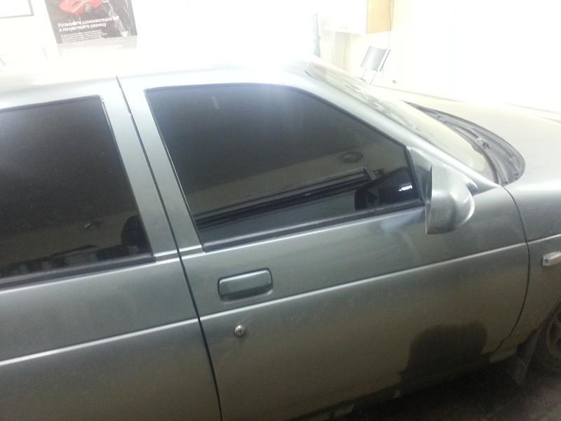 ВАЗ 2112 — тонировка передних стекол статикой 02.10.2013