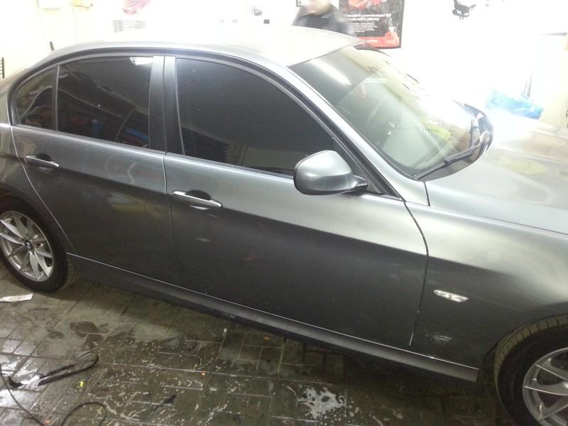 BMW 3 — установка СГУ, тонировка передних стекол статикой 07.10.2013