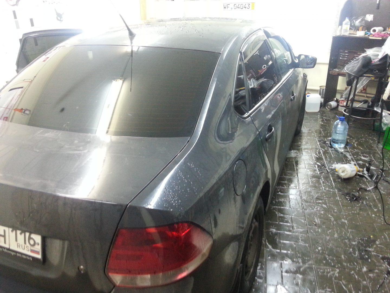 VW Polo — тонировка задних стекол авто —  27.10.2013