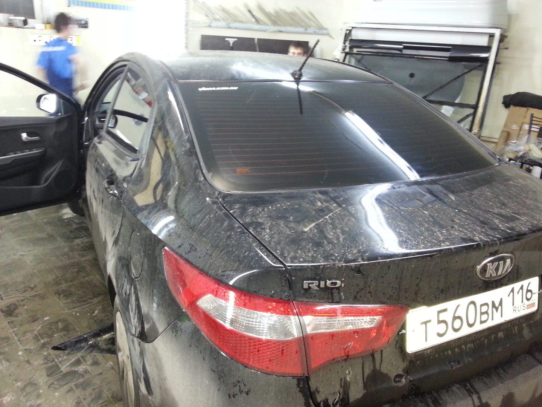 Kia Rio — тонировка автомобиля — 14.11.2013