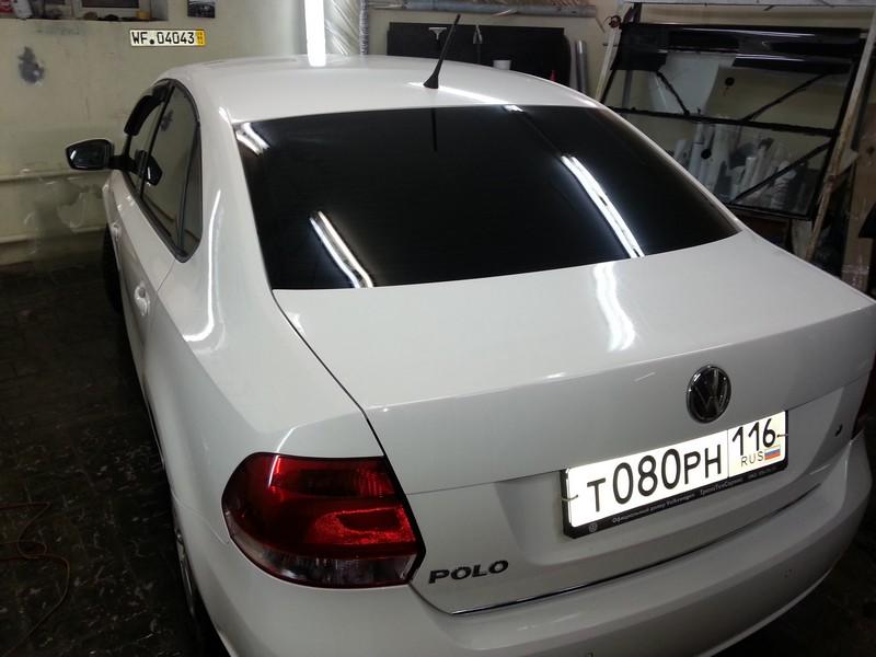 VW Polo — тонировка авто в Казани — 26.12.2013