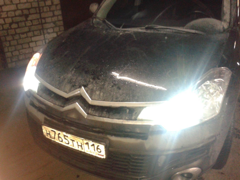 Citroen C-Crosser — установка ксенона на авто в Казани — 04.01.2014