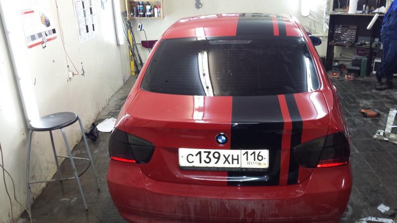 BMW 3 — тонировка задних фонарей автомобиля — 22.01.2014