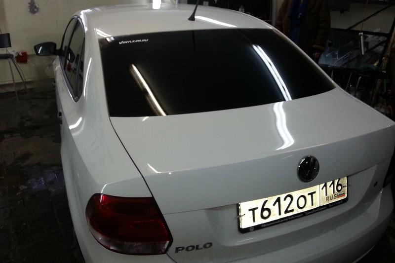 Тонировка задней полусферы VW Polo — 22.02.2014