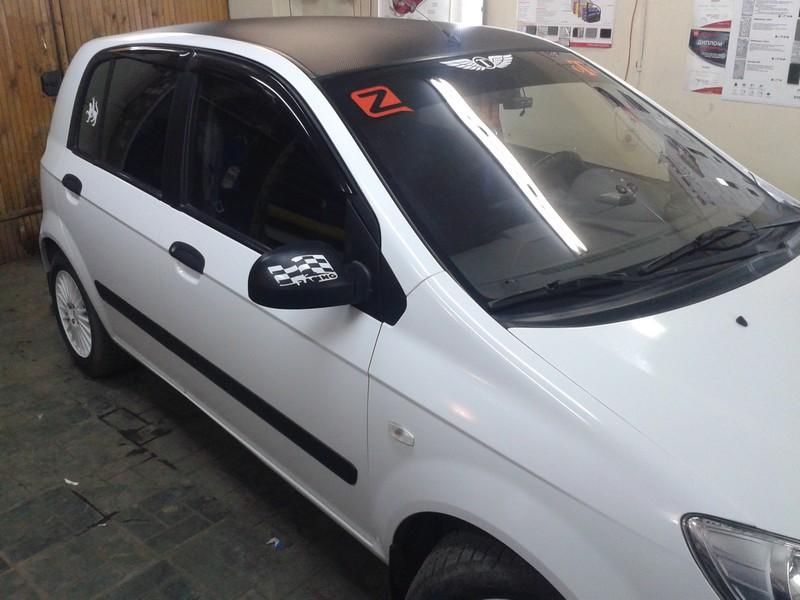 Hyundai Getz — оклейка авто белой глянцевой пленкой — 31.03.2014