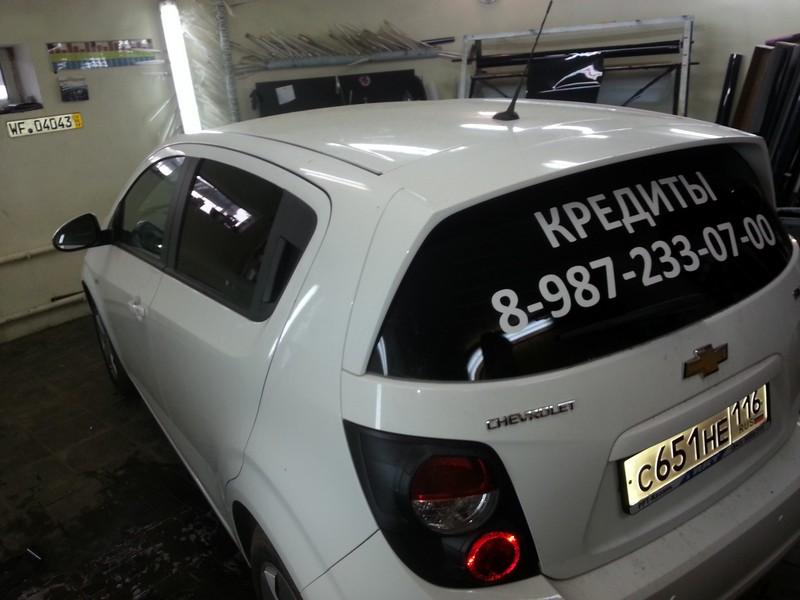 Chevrolet Aveo — тонировка стекол автомобиля —  05.05.2014