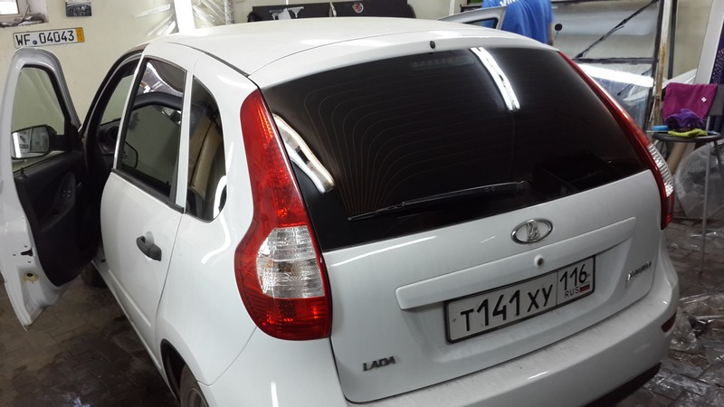 Лада Калина — тонировка автомобиля — 20.05.2014