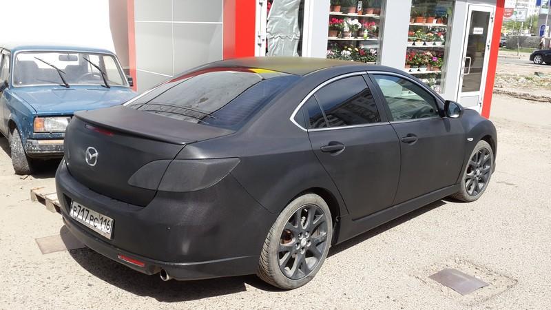 Mazda 6 — оклейка глянцевым 3D карбоном — 10.05.2014
