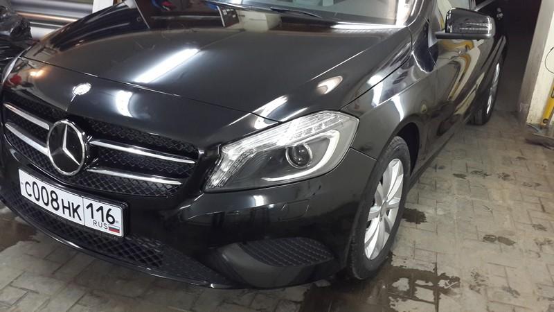Mercedes-Benz A-Class — тонировка авто и бронирование передней части — 29.04.2014