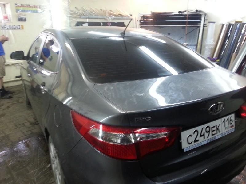 Kia Rio — тонировка авто, цена тонировки от 1400 рублей — 24.06.2014