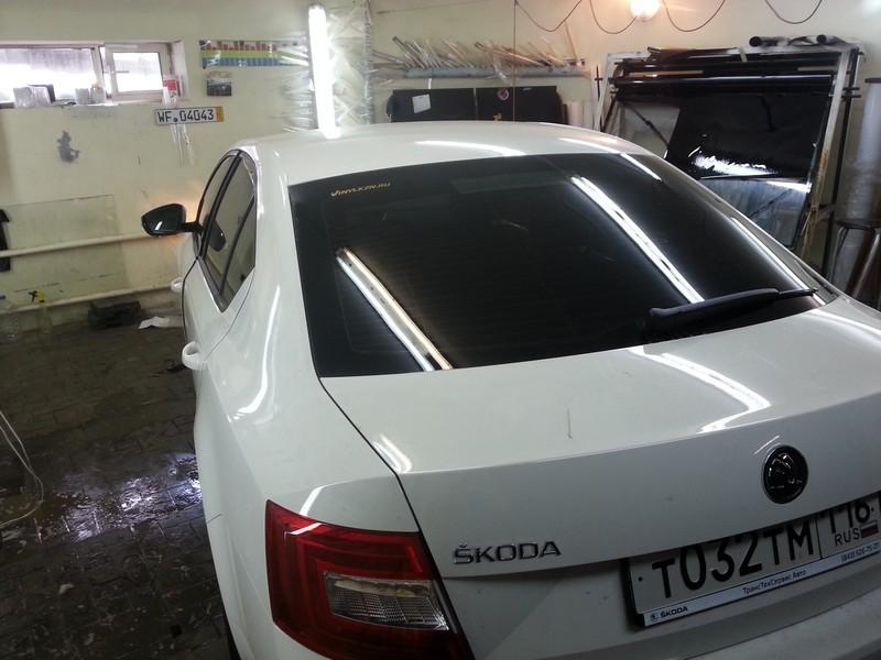 Тонировка автомобиля Skoda Octavia — пленка 65% — 25.06.2014