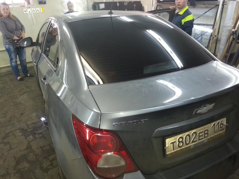 Chevrolet Aveo — тонировка автомобиля — цена 1800 рублей — 25.06.2014