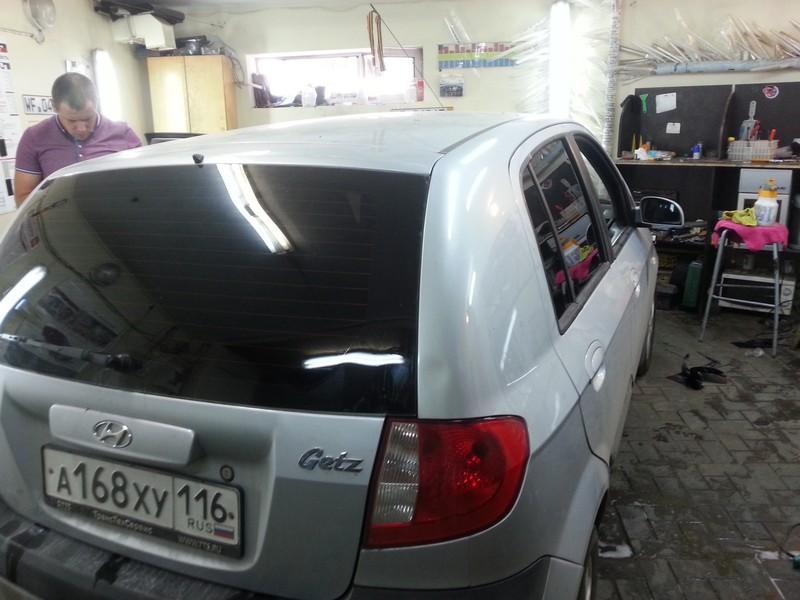 Тонировка Hyundai Getz,  стоимость 1800 рублей — 25.07.2014