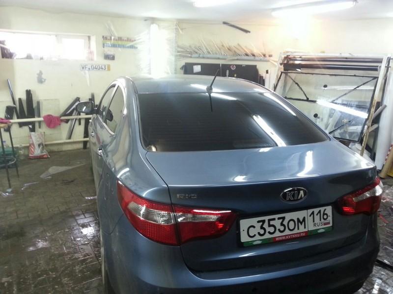 Kia Rio —  тонировка авто — 1600 рублей — 26.07.2014