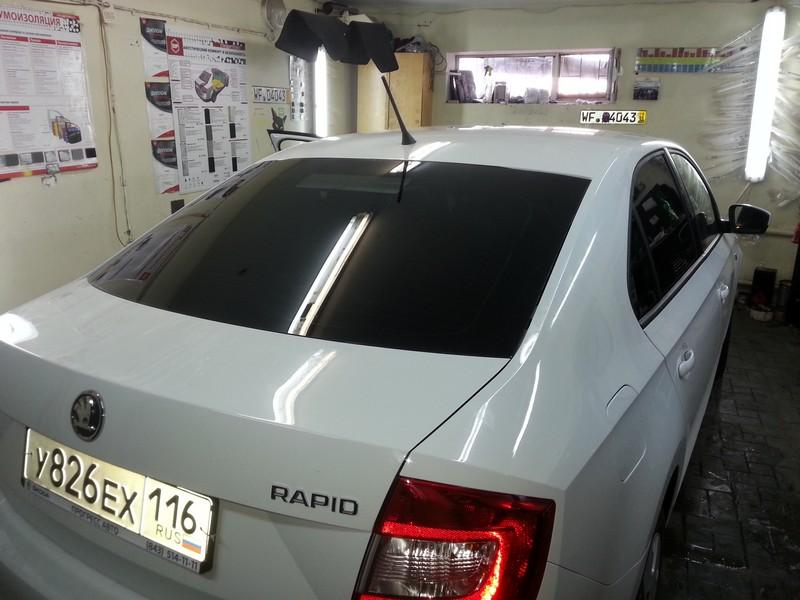 Skoda Rapid — тонировка автомобиля, цена 1800 рублей — 27.08.2014