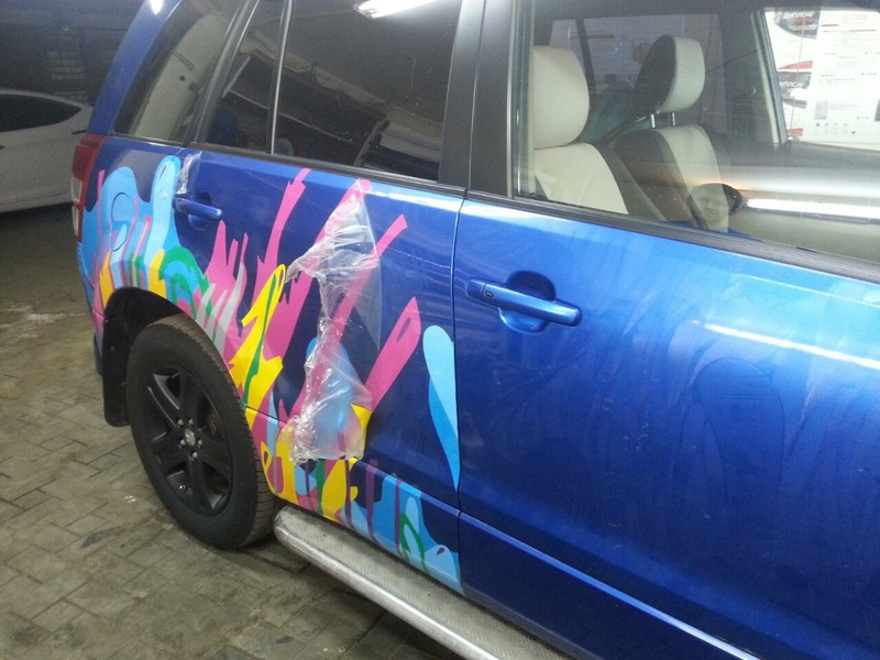 Suzuki Grand Vitara —  удаление пленки, полировка авто — август 2014