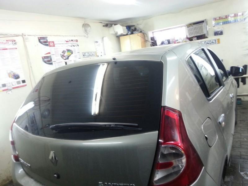 Renault Sandero — тонировка авто, стоимость работ 1600 рублей — 06.08.2014