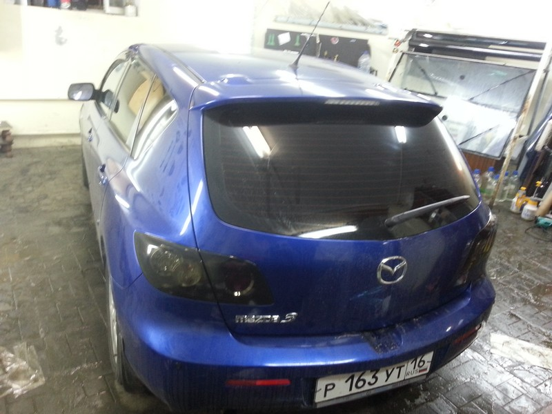 Mazda 3 — тонировка автомобиля хамелеон, тонировка фар — 06.09.2014