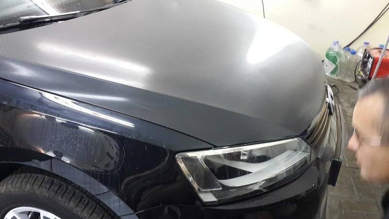 VW Polo — оклейка капота авто, цена 1500 рублей, сентябрь 2014