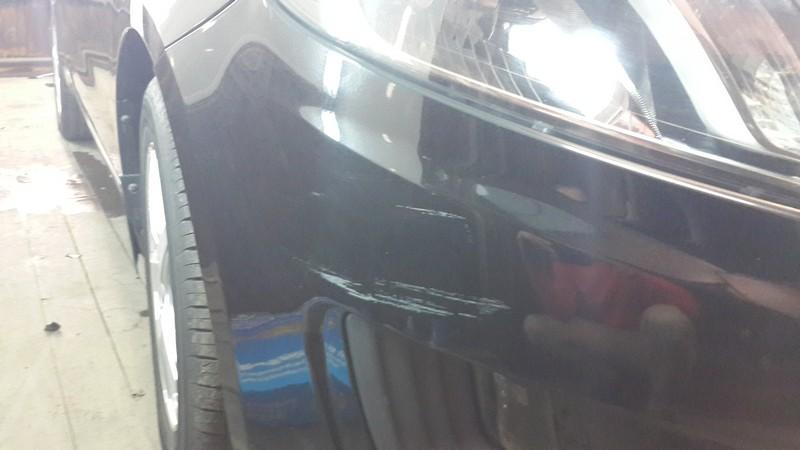 Kia Rio — полировка бампера автомобиля — 28.09.2014