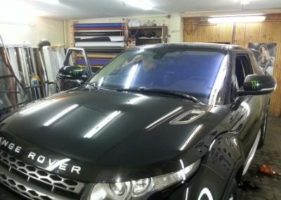 Range Rover Evoque — тонировка пленкой хамелеон, атермальная тонировка — сенябрь 2014