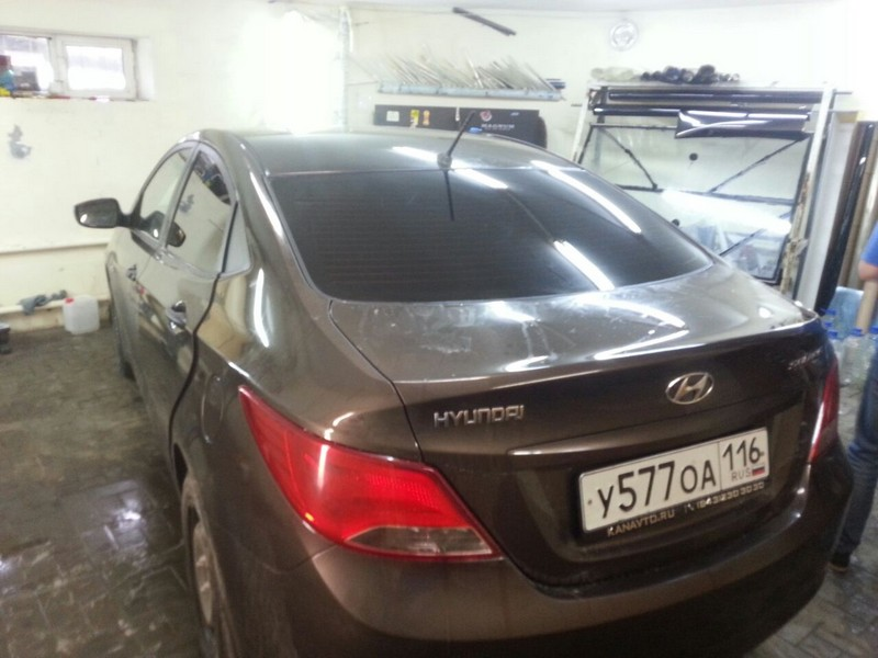 Hyndai Solaris — тонировка стекол автомобиля — 09.11.2014