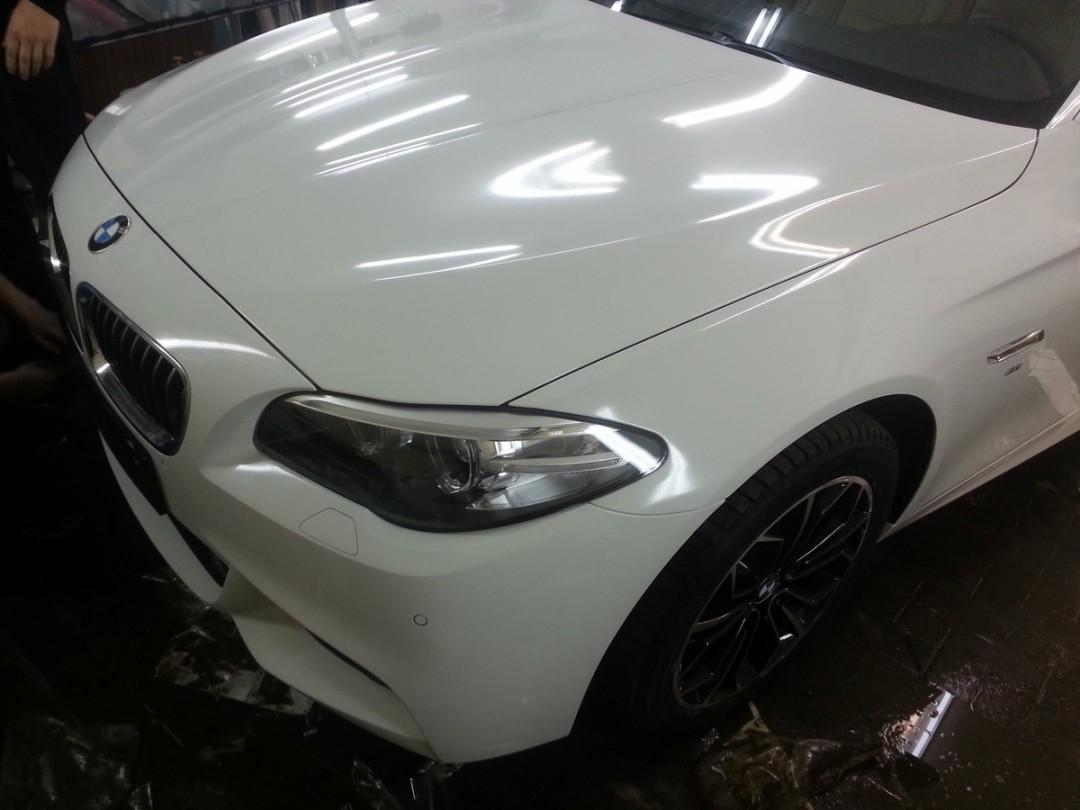 BMW M5 пакет — бронирование кузова антигравийной пленкой — 02.12.2014
