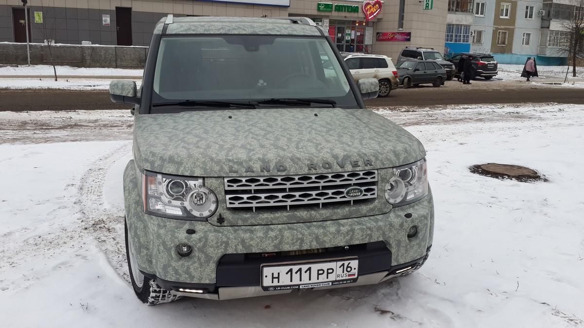 Land Rover Discovery 4 — оклейка автомобиля пленкой камуфляж — 04.12.2014