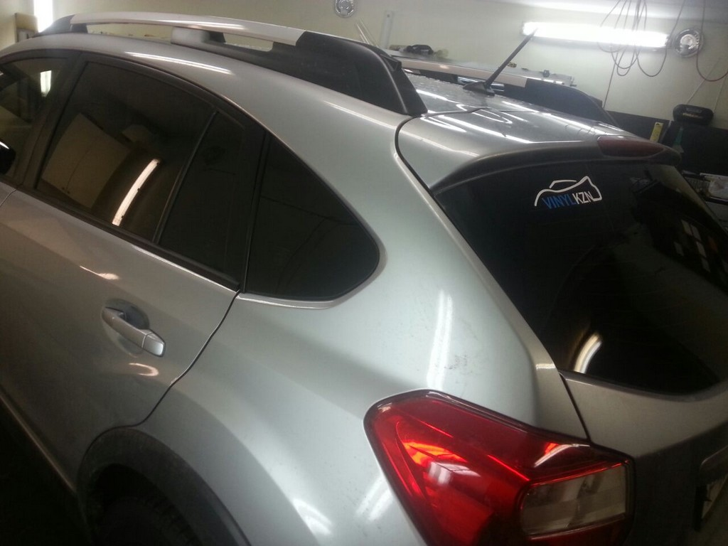 Subaru XV  — тонировка задней части 95%, передних стекол 65% —  08.01.2014