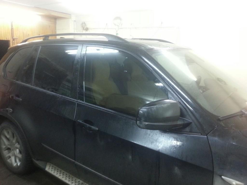 BMW X5 — тонировка автомобиля, январь 2015