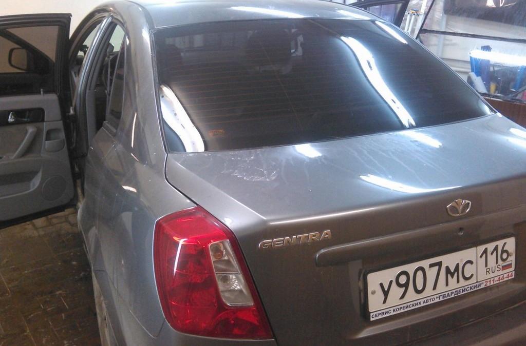 Daewoo Gentra  — тонировка задней части авто? 20% светопропускания — март 2015