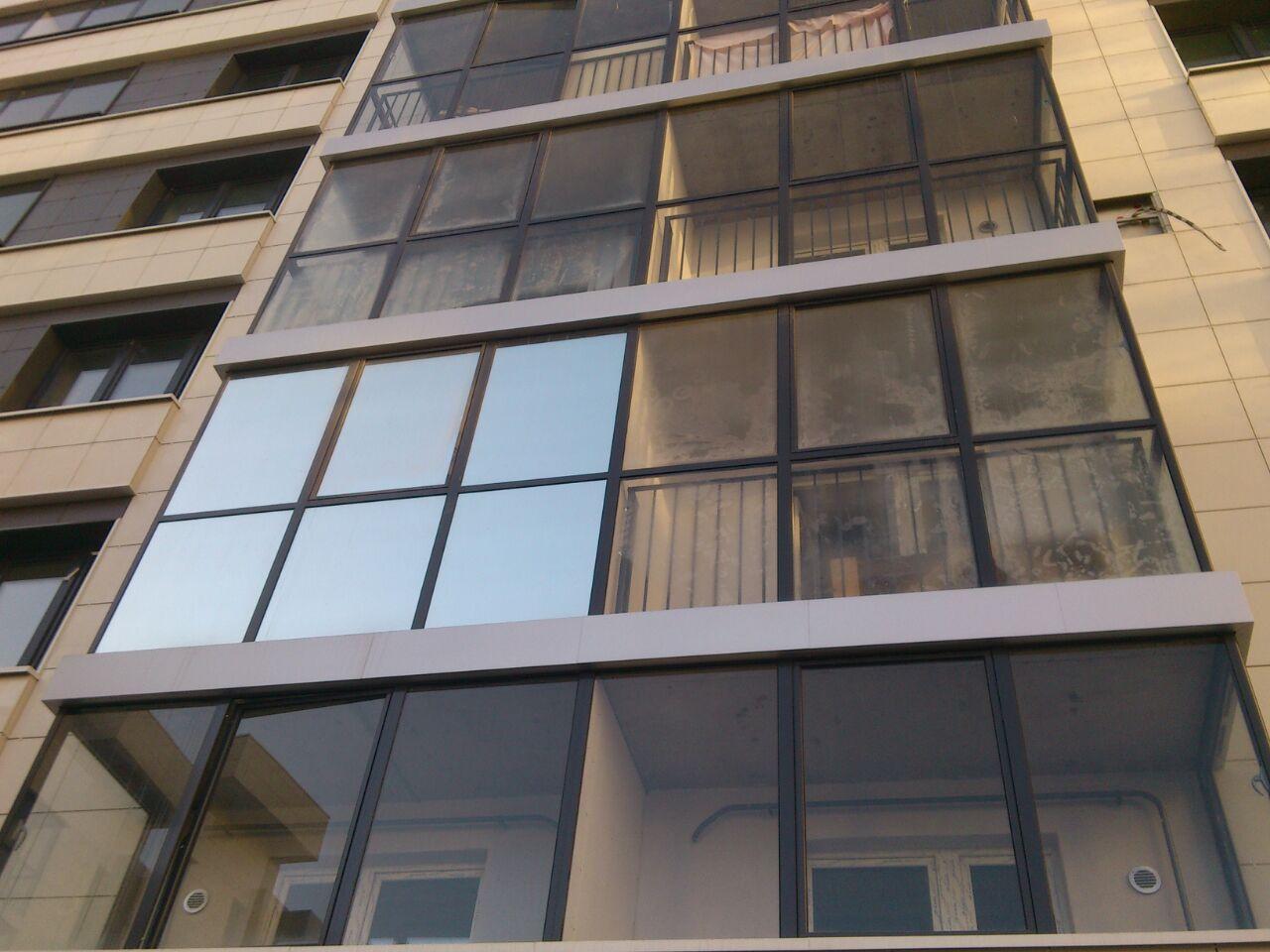 Тонировка стекол балконов - март 2015.