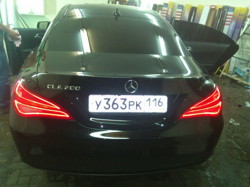 Mercedes-Benz CLA-200 — тонировка задней полусферы, цена 2800 руб.