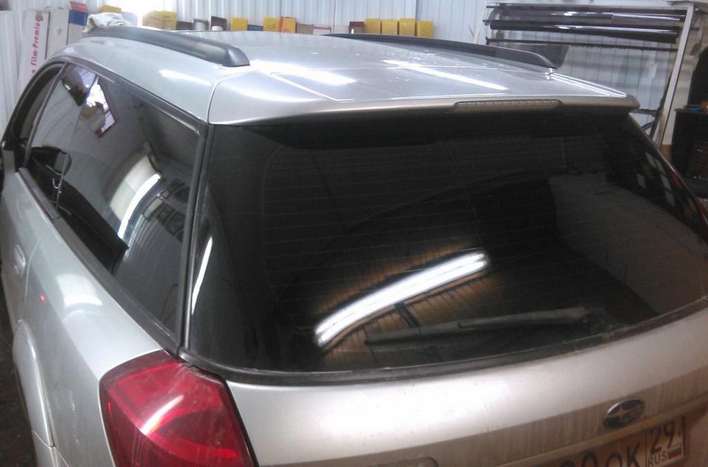 Subaru Outback — тонировка, установка магнитолы и полировка фар
