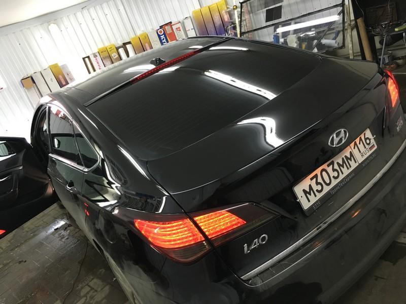 Hyundai i40 — тонировка задней части авто 95%, передней 30%