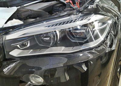 Полировка и бронирование фар автомобиля BMW X5M