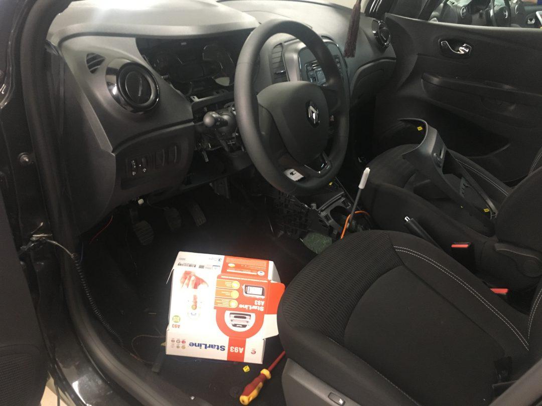 Сертифицированная установка сигнализации Starline A93 на автомобиль Renault Kaptur