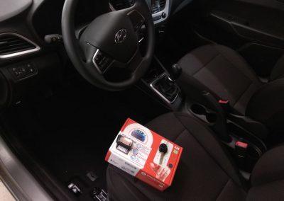 Сертифицированная установка сигнализации Starline A93 и тонировка — Hyundai Solaris New