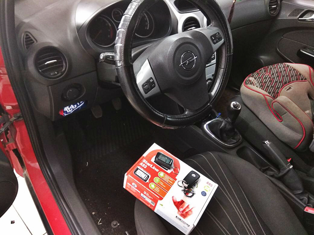 Сертифицированная установка сигнализации Starline A93 — Opel Corsa