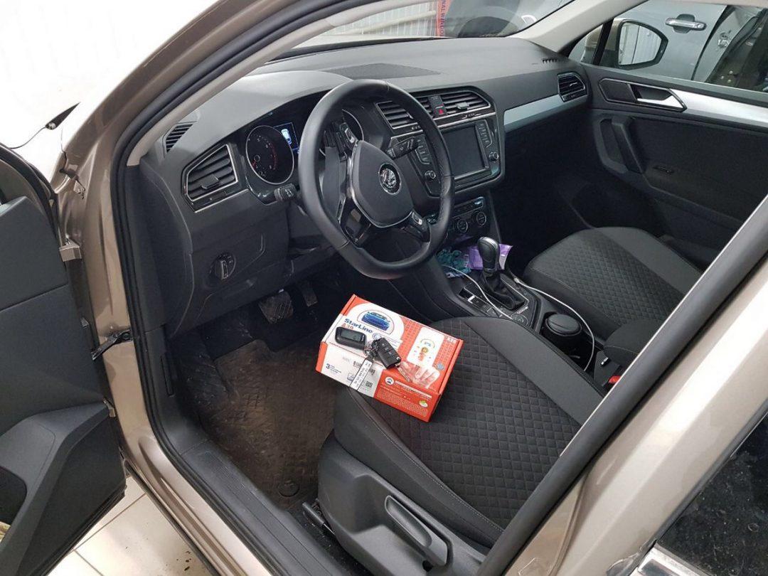 Сертифицированная установка сигнализации с автозапуском StarLine A39 — VW Tiguan