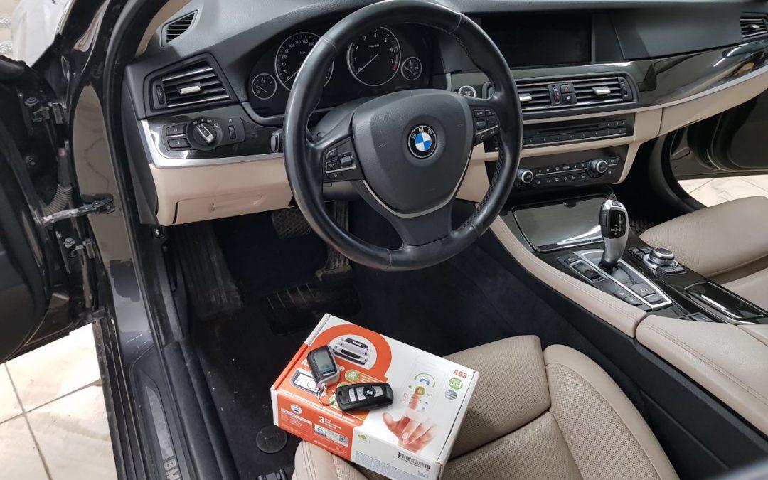 Сертифицированная установка сигнализации с автозапуском Starline A93 — BMW 5