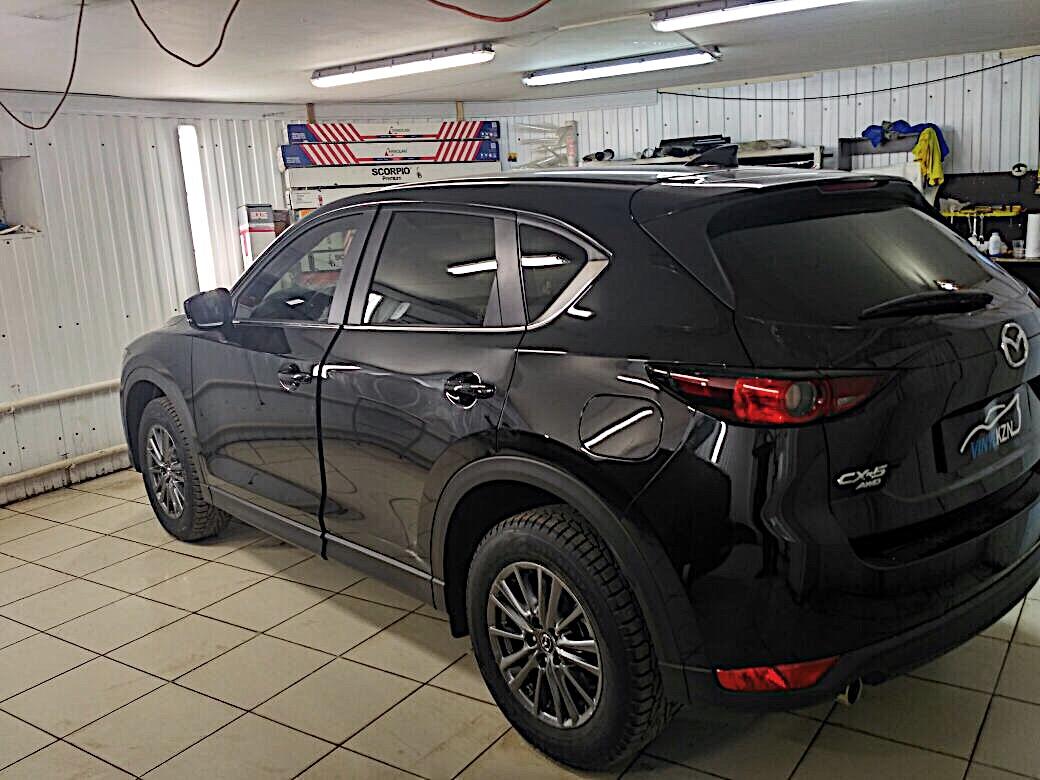 Тонировка пленкой Llumar задней части — 95%, 50% передние боковые, бронирование лобового стекла — Mazda CX5