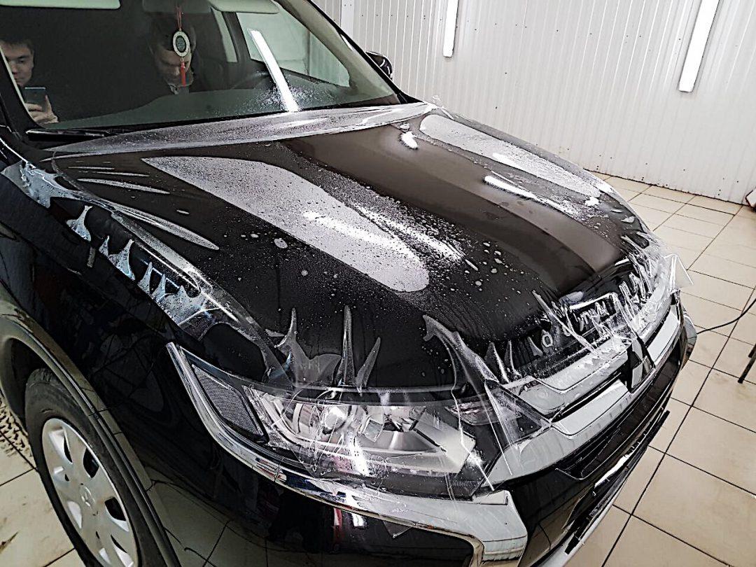 Бронирование капота автомобиля Mitsubishi Outlander