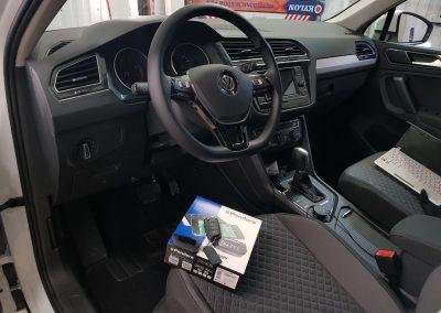 Сертифицированная установка сигнализации с автозапуском Pandora DX-90 — VW Tiguan