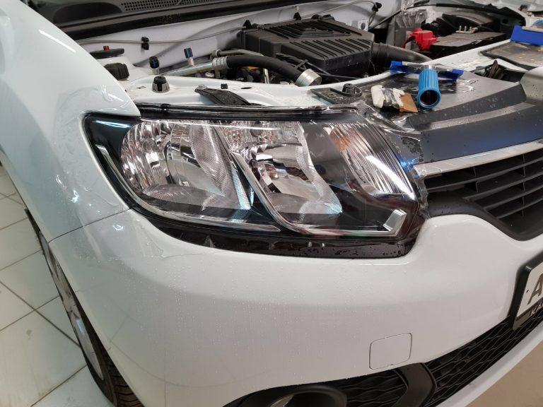 Бронирование фар автомобиля — Renault Logan