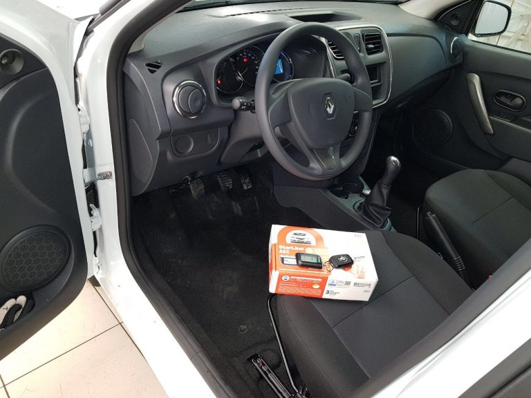 Сертифицированная установка сигнализации с автозапуском Starline A93 — Renault Logan