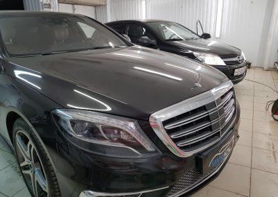 Бронирование фар автомобиля Mercedes-Benz S-klasse W222
