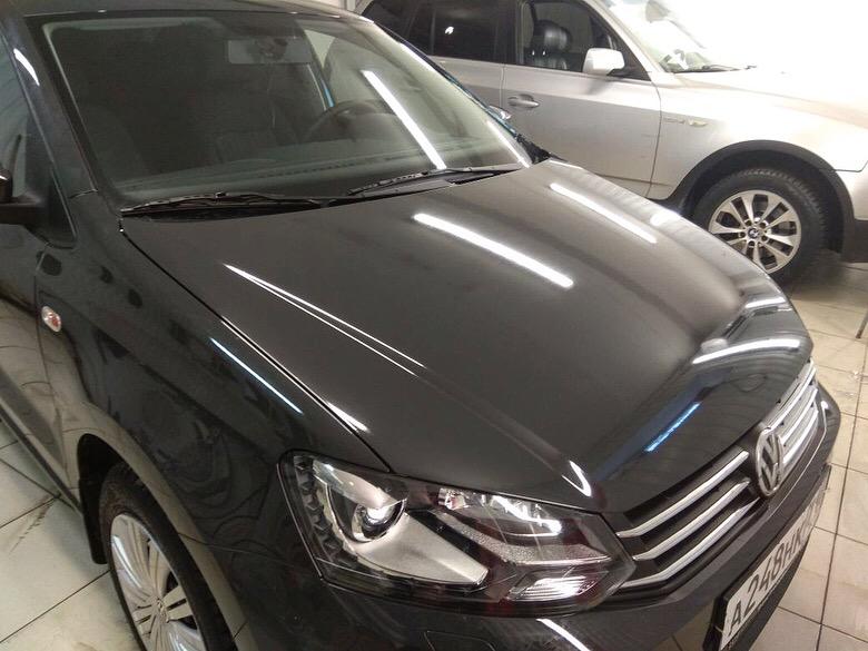 Бронирование капота и фар автомобиля — VW Polo